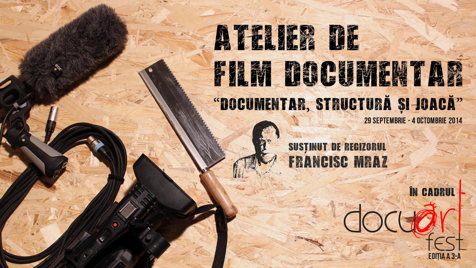 6 zile de atelier de documentar la Docuart Fest cu regizorul Francisc Mraz